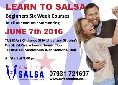 Beginner salsa classes June 2016