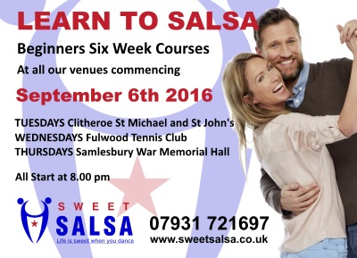Beginner salsa classes September 2016