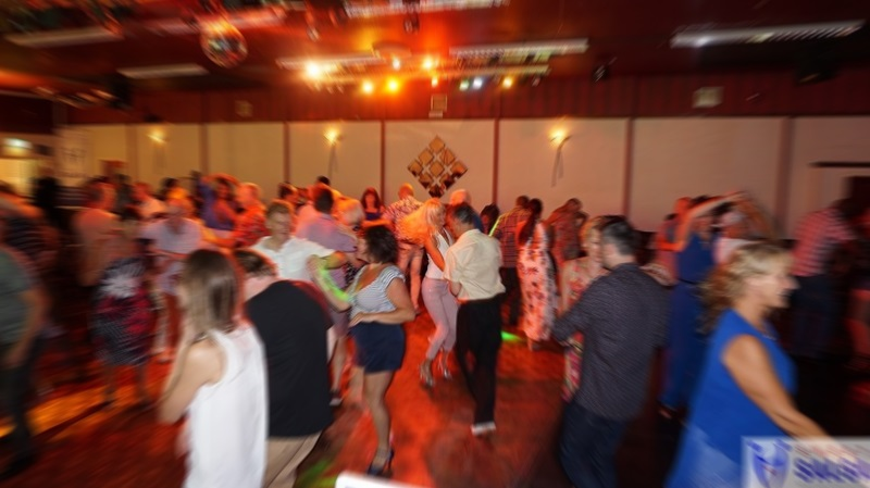Busy salsa dancefloor at the Canberra Club