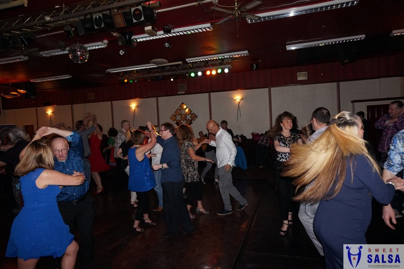 Salsa dancing into the early hours