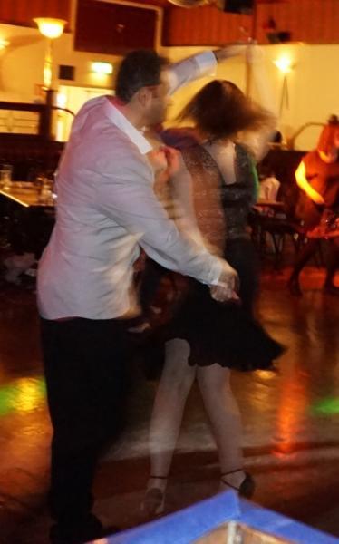 Enjoying the salsa music