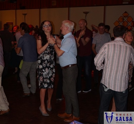 Dancing to salsa music November 2017