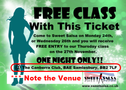 free class offer - sweet salsa