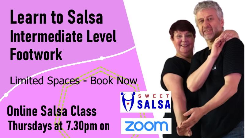 intermediate class online salsa footwork