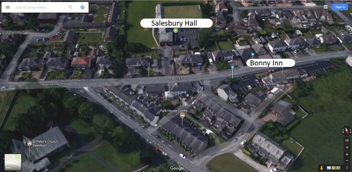 Salesbury Hall aerial shot