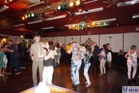 Salsa dancing party at the Canberra Club October 2016