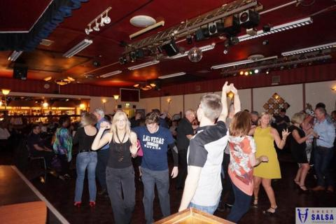 Salsa dancing party at the Canberra Club July 2016