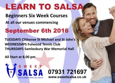 Beginner salsa classes September 2016