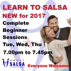 Beginner salsa classes in Preston, Clitheroe and Blackburn