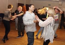 Enjoying the salsa class