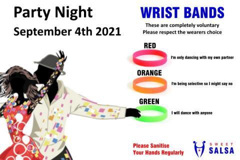 salsa party wrist bands