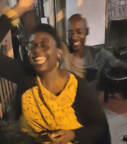 Enjoying the dance