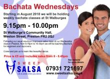 Bachata class Wednesdays in Preston