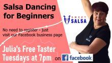 free beginner salsa class on Facebook