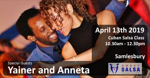 Yainer and Anneta Salsa dancers